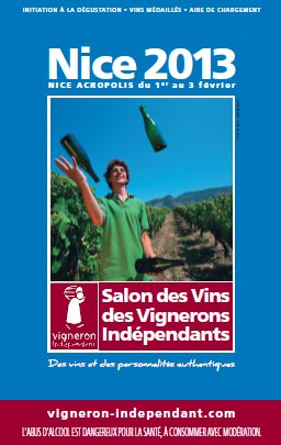 La plus grande cave vin de france s 39 installe nice - Invitation salon des vignerons independants ...